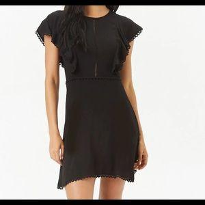 Scalloped trim dress